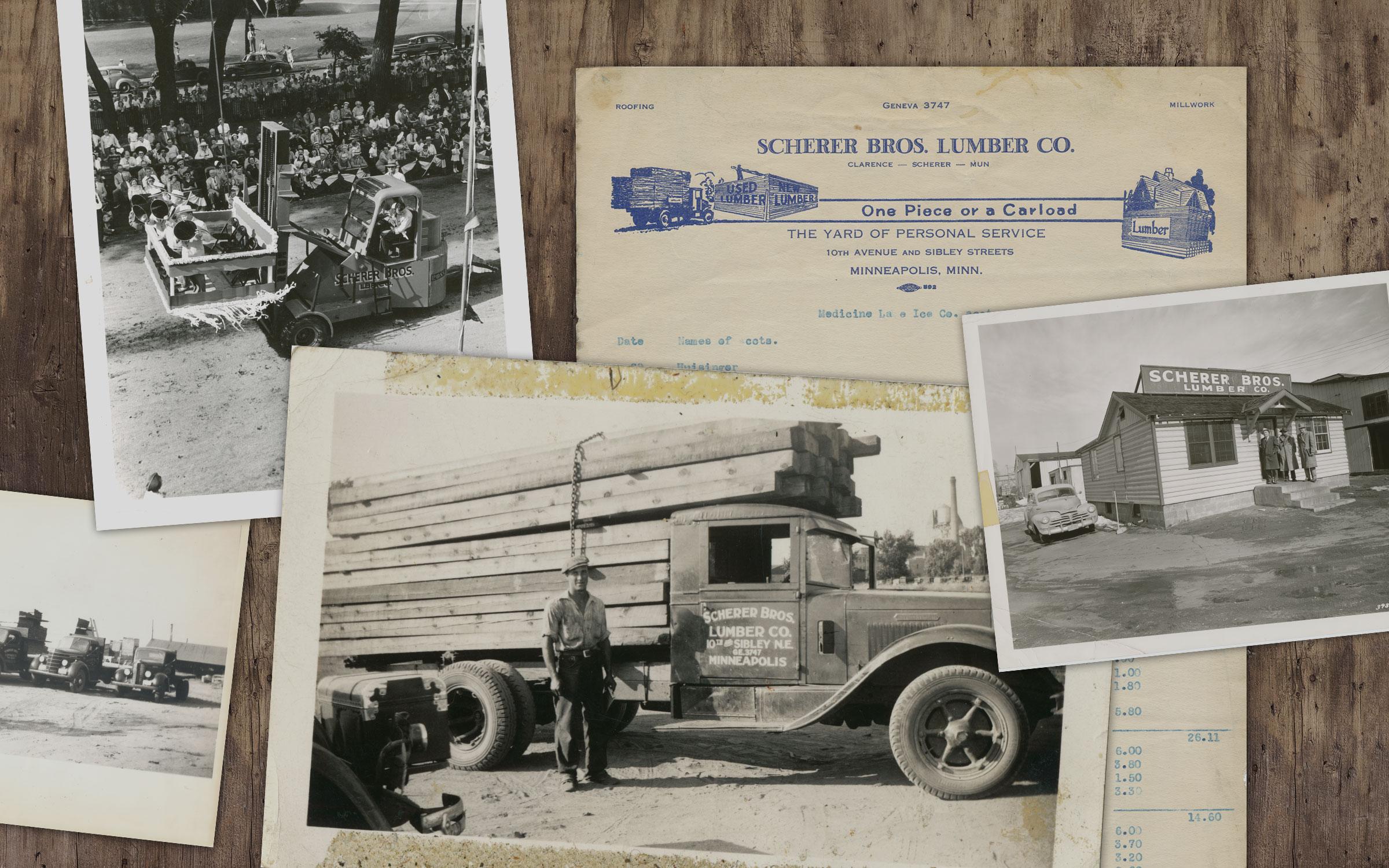 Scherer Bros Lumber Co Vintage
