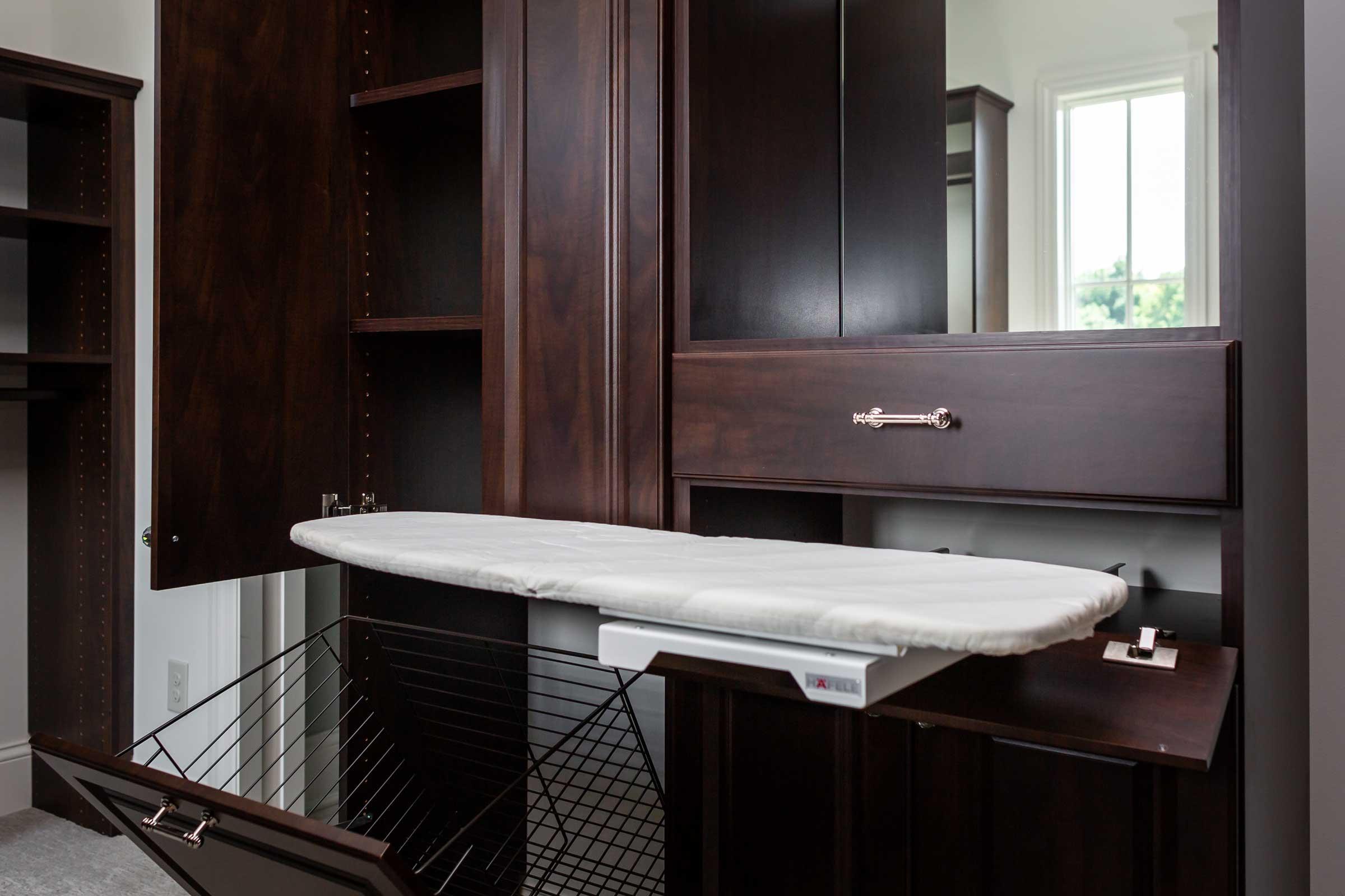 Custom Closet With Ironing Board